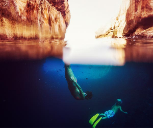 Family diving in Croatia