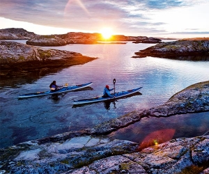 kayaking in west sweden