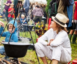 Cerys Matthews at The Good Life Experience festival in Flintshire, Wales