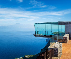 Viewing platform at Mirador de Abrante in Agulo on La Gomera, Canary Islands