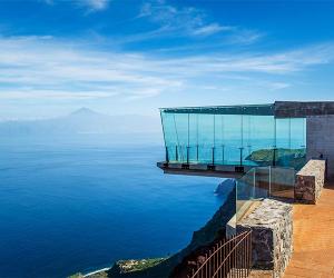 Viewing platform at Mirador de Abrante in Agulo on La Gomera, Canary Islands
