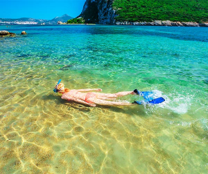 Shallow water snorkelling