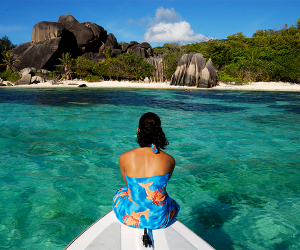Sailing in the Seychelles islands