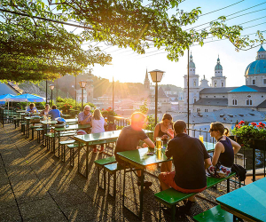 Beer garden in Salzburg