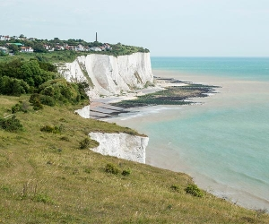 Walk along the White Cliffs of Dover in Kent. Photograph by Gokhan Tanriover