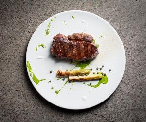 Steak in a restaurant in Argentina.