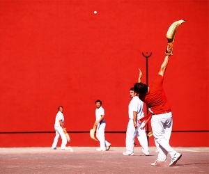 A game of Basque pelota being played in French Basque country