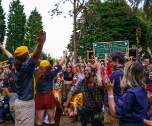 Camp Wildfire's victory ceremony. Photo by Mike Brindley