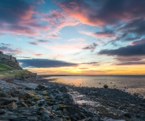 Lindisfarne island in Northumberland, UK