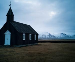 Snaefellsnes, west Iceland: Budir black church