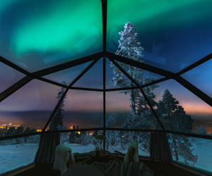 Inside the Glass Igloos at Arctic SnowHotel in Swedish Lapland