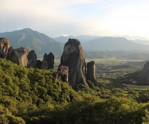 Ancient monasteries sit on top of Metéora's rock: Adventures in Greece