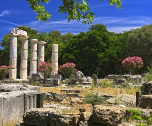 Ruins in Samothrace, Greece
